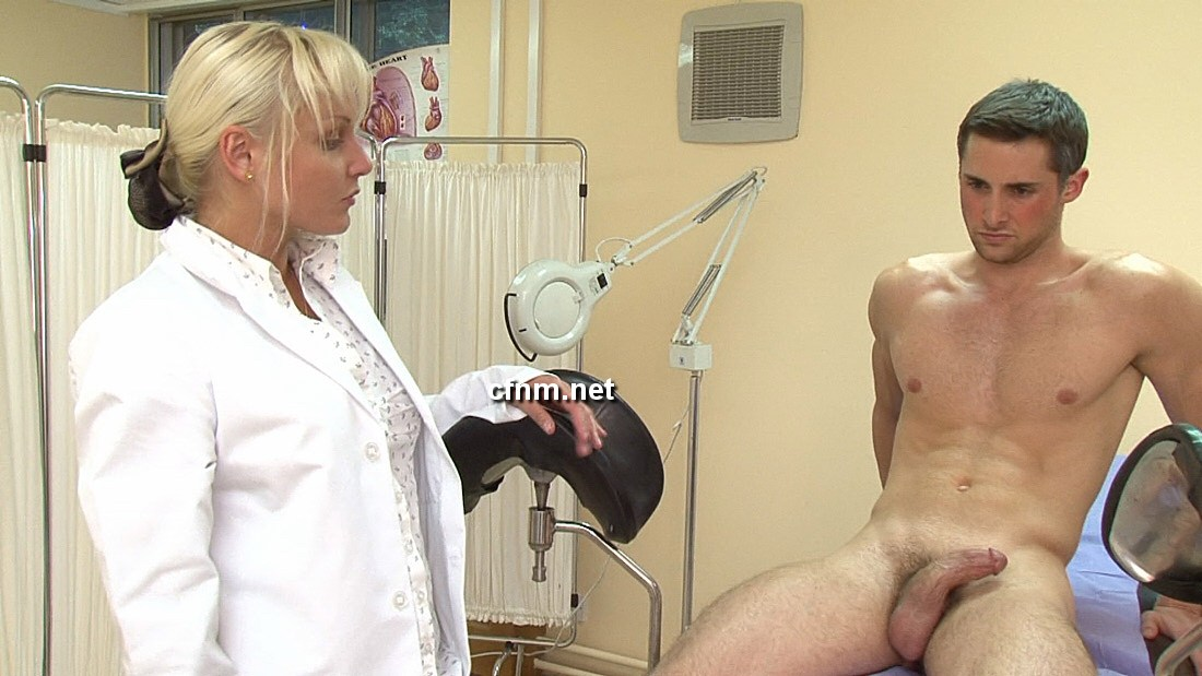 Cfnm doctor helps boy with small cock femdom 5