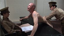 Soldier, stripped and interrogated