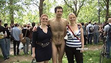 Public Nudity in London Park